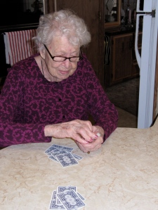 My mother, who turned 103 this past summer, still beats me sometimes when I play her in gin rummy.