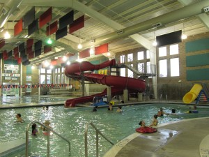 The Astoria Aquatic Center is open to out-of-town visitors and is a great place to duck inside on a rainly day.
