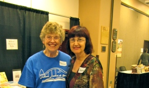 Here I am with Dr. Veronica Esagui, who will be teaching the class on marketing your own book as well as participating in the FFOB.