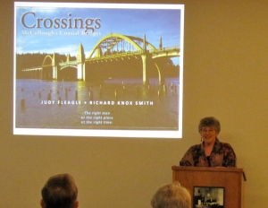 I'm giving my presentation in Oregon City as part of the reopening celebration of the Arch Bridge.