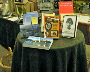 Love the very prominent placement of my books at the Lane County Historical Museum.