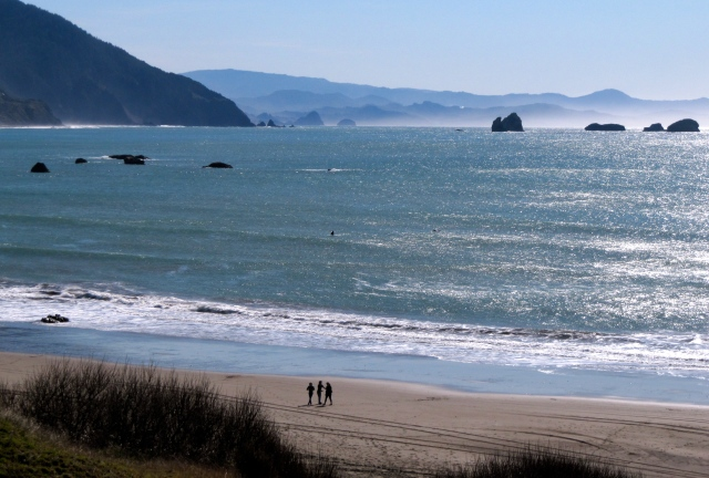 This is the view from Battle Rock on the southern end of Port Orford.