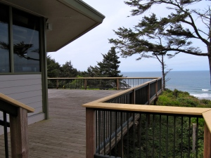 Great views for whale watching at the Cape Perpetua Visitor Center.