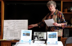 Here I'm making good use of the bridge poster showing nearly all of McCullough's coastal bridges.