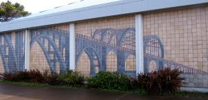 The Historic Alsea Bay Bridge Interpretive Center in Waldport at the southern end of the new Alsea Bay Bridge.