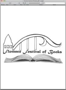 Notice that the Florence Festival of Books logo includes the Siuslaw River Bridge.