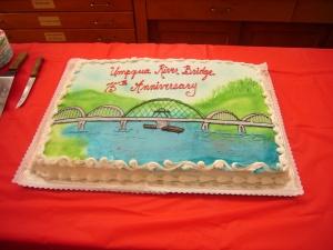 After 75 years the Umpqua River Bridge was finally dedicated.
