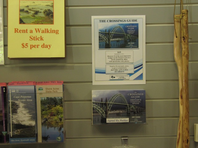 The Crossings Guide in the gift shop of the Cape Perpetua Visitor Center.