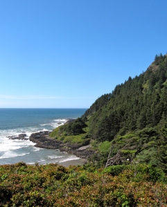 The Cape Perpetua scenic recreational area caries my books in the Visitor Center.