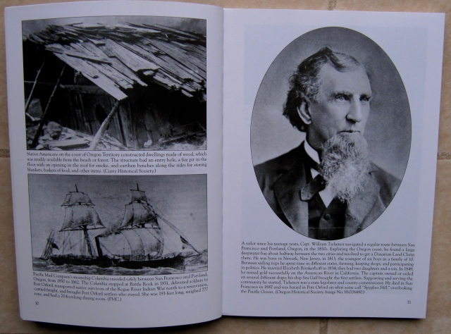 Here are photos from Port Orford and North Curry County, including one of Capt. William Tichenor the founder of Port Orford.