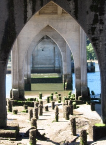 From under the bridges, the cathedral arches view is popular with photographers.