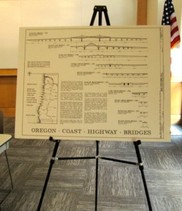 My large bridge poster showing the McCullough coastal bridges.