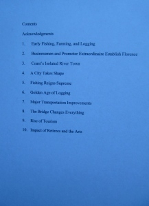 Table of Contents for Around Florence.