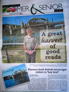 Here I am on the cover of the NW Boomer & Senior News with the article about the FFOB.