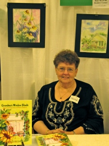 Carolyn Nordahl was one of the author's who read from her book in the Readers' Corner.