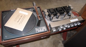 Here are couple of pieces of my late husband's vintage stereo equipment.