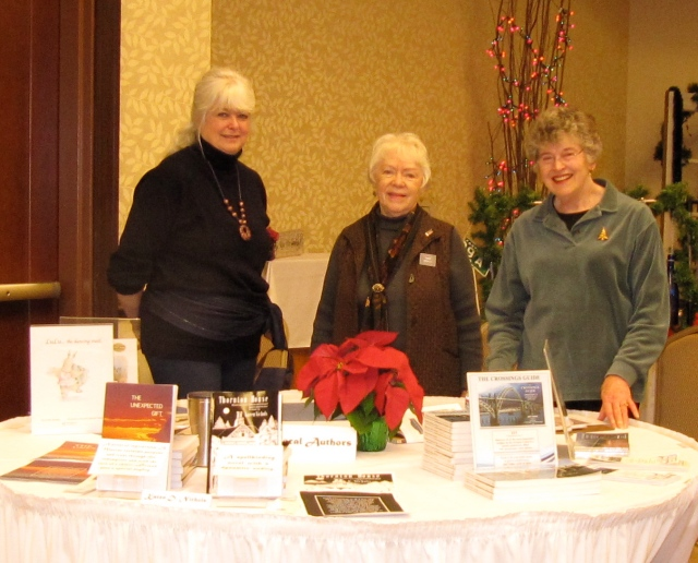 Karen Nichols, Connie Bradley, and me at the Victorian Bells event.