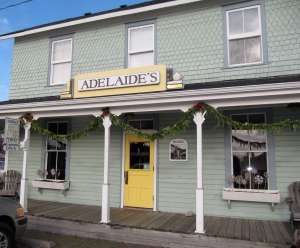 Adelaide's coffee and books is a coffee shop with treats and books in Ocean Park, Washington.