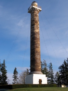The Astoria Column has the history of the area spiraled from bottom to top. And the nearby gift shop carries my bridge books.