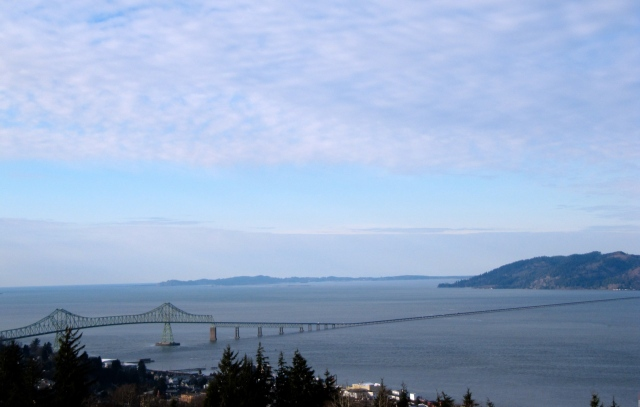 This view is taken from the Astoria Column and still doesn't get all of the 4-mile long bridge.