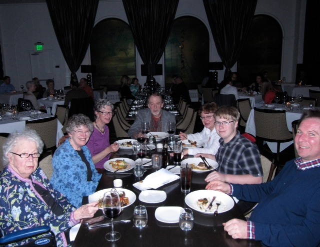 Mom, me, sister Edna, brother Harry, Harry's fiance Jayne, Jayne's son Hans, and nephew Jason.