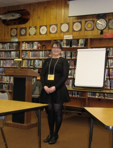 Tanya Chernnov taught a workshop on the importance of setting.
