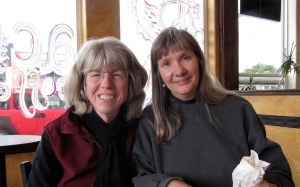 My friends that I met for coffee and goodies at Rachels Coffee Shop at Gold Beach Books.