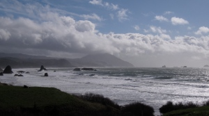 This is shot from Battle Rock Wayside in Port Orford after the storm.