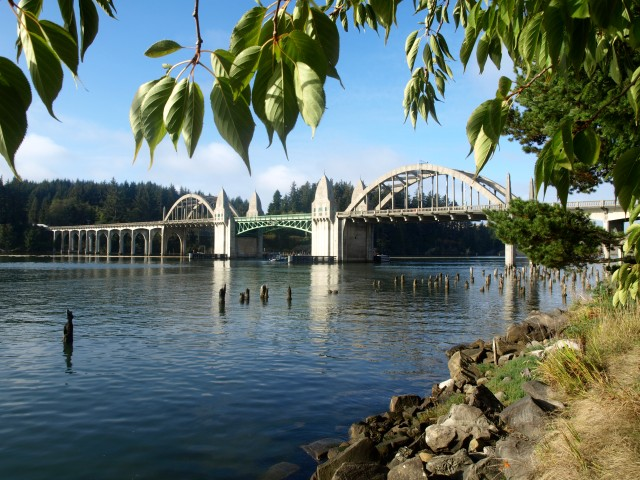 Butterfly lady was totally enchanted with the Siuslaw River Bridge, which is also my favorite.