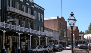 Nevada City is an old mining town with many restored historic buildings.