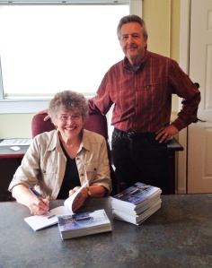 We try to capture every milestone with our adventures with the books. So here I am with Bob Serra signing the very first copies of the second edition of The Crossings Guide.