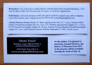 Here is mock-up of back of postcard. Hope I can get my info printed right on the card.