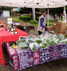A great place to find homemade jams, including some hot ones, and fresh greens. These are grown near Ten Mile Creek Bridge.
