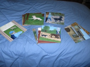 Here are the 14 illustrations for my  upcoming book about animlas I have known.