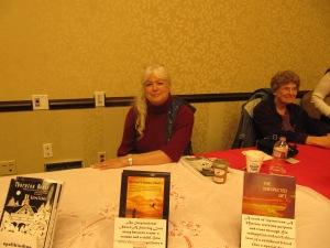 Karen Nichols and her three books.