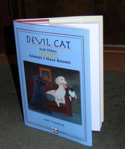 Devil Cat and Other Colorful Animals I Have Known is finally here. It's my first hardback with dust jacket.