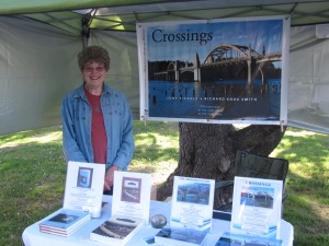 Hee I am with my books on display on Saturday.
