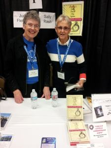 Here I am with Sally Rash, with whom I shared a table.
