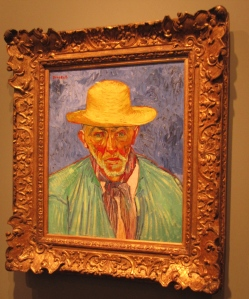 I recognized Portrait of a Peasant immediately as a Van Gogh––one of my favorite artists.