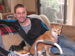 I even got to see my nephew, Lindsay, and his dog, Melissa, . . .